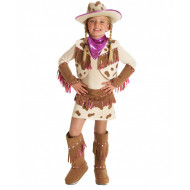 Fantasia Infantil Cowboy Cowgirl Pink Country