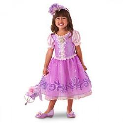 Fantasia Infantil Luxo Rapunzel Enrolados