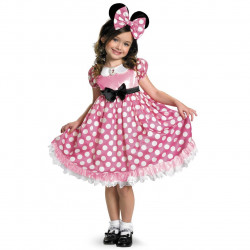 Fantasia Infantil Minnie Mouse que se Ilumina no Escuro