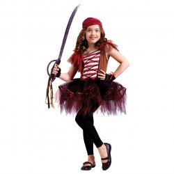 Fantasia Infantil Pirata Bailarina Tutu Luxo