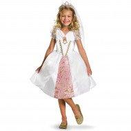 Fantasia Infantil Rapunzel Enrolados Vestido de Casamento