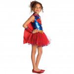 Fantasia Infantil Super Girl Tutu Luxo