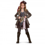 Fantasia Jack Sparrow Piratas do Caribe Elite Infantil Meninas POTC5