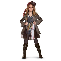 Fantasia Jack Sparrow Piratas do Caribe Elite Infantil Meninas POTC5