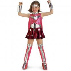 Fantasia Mulher Maravilha Infantil Rosa