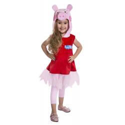 Fantasia Pepa a Porquinha Vestido Bailarina Infantil Luxo