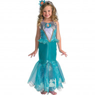 Fantasia Pequena Sereia Ariel Infantil Luxo