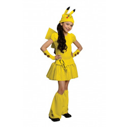 Fantasia Pokemon Pikachu Infantil Garota