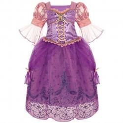 Fantasia Rapunzel Enrolados Disney Infantil Luxo