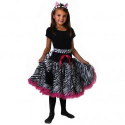 Fantasia Saia Tutu de Ballet Zebra e Rosa