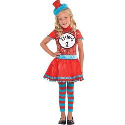 Fantasia Vestido Dr. Seuss Thing 1 Infantil