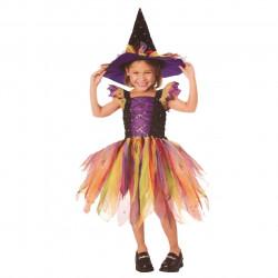 Fantasisa Infantil de Bruxa com Brilho
