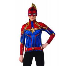 Máscara Capitã Marvel Adulto Luxo