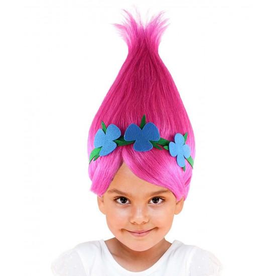 Peruca Princesa Poppy Luxo Infantil