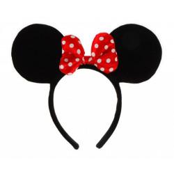 Tiara com Orelhas da Minnie Mouse Disney Clássica
