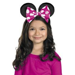 Tiara com Orelhas Minnie Mouse Rosa