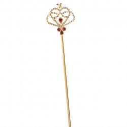 Varinha Dourada e Vermelha Rainha de Copas Infantil Luxo