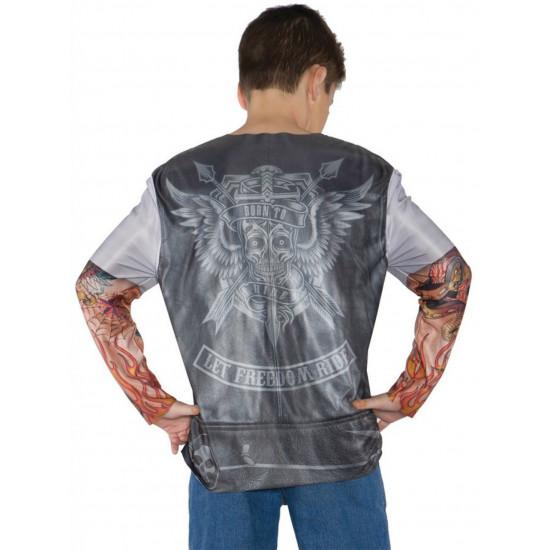 Camiseta Motoqueiro Instinto Selvagem Infantil Luxo