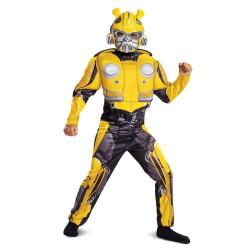 Fantasia Bumblebee Infantil Musculos Transformers Clássica