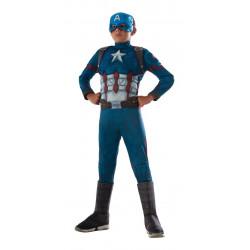 Fantasia Capitão América Guerra Civil Musculos Infantil