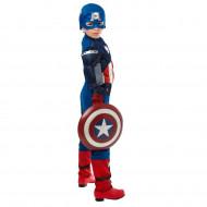 Fantasia Capitão América Infantil Músculos Escudo Luxo