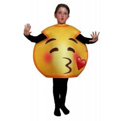 Fantasia Emoji Beijinho Infantil Luxo