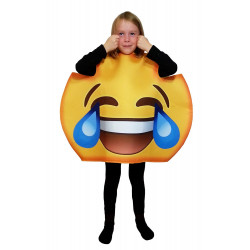 Fantasia Emoji Chorando de Rir Infantil Luxo