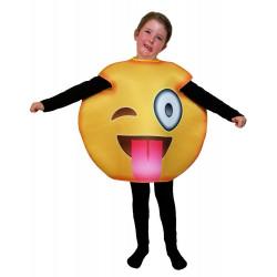 Fantasia Emoji Piscando Infantil Luxo