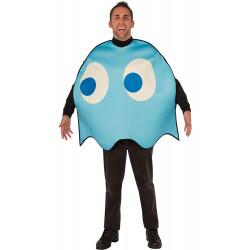 Fantasia Fantasma Azul PacMan Luxo Adulto