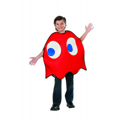 Fantasia Fantasma Vermelha PacMan Luxo Infantil
