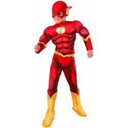 Fantasia Flash Super Herói DC Músculos Infantil