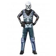 Fantasia Fortnite Skin Skull Trooper Infantil Luxo
