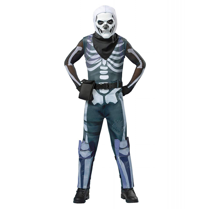 Fantasia Fortnite Skin Skull Trooper Infantil Luxo