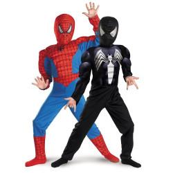Fantasia Homem Aranha Infantil Dupla Face com Músculos
