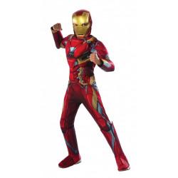 Fantasia homem de Ferro Guerra Civil Infantil Luxo