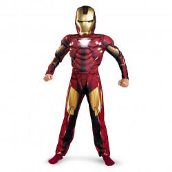 Fantasia Homem de Ferro Infantil com Músculos