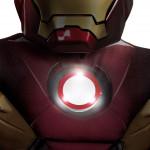 Fantasia Homem de Ferro Infantil com Músculos e Luz no Peito