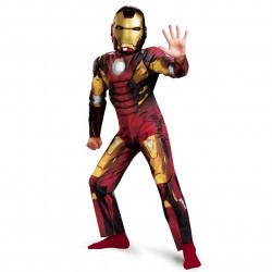 Fantasia Homem de Ferro Infantil com Músculos Os Vingadores
