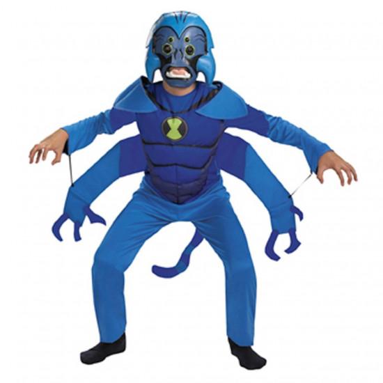 Fantasia Infantil Ben 10 Spider Monkey Macaco Aranha Luxo
