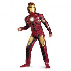 Fantasia Infantil com Músculos e Luz no Peito Homem de Ferro Iron Man