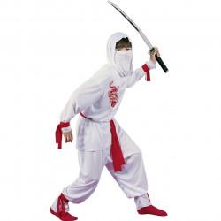 Fantasia Infantil Ninja Dragão Branco
