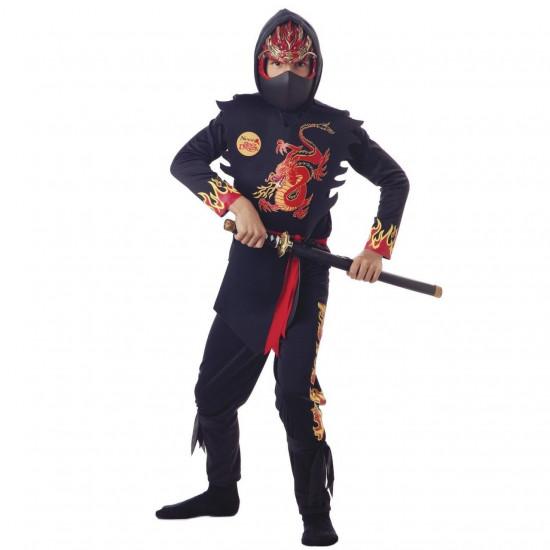 Fantasia Infantil Ninja Dragão Negro