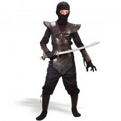Fantasia Infantil Ninja Lutador de Couro