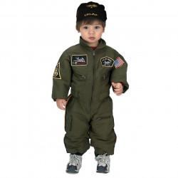 Fantasia Infantil Piloto de Caça da Força Aérea Americana Luxo