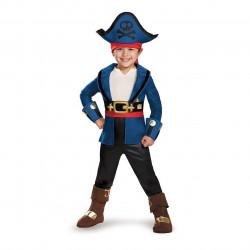 Fantasia Infantil Pirata Capitão Jake Luxo da Terra do Nunca