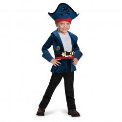 Fantasia Infantil Pirata Capitão Jake Luxo da Terra do Nunca Clássica