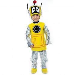 Fantasia Infantil Plex o Robô Amarelo Yo Gabba Gabba