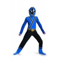 Fantasia Infantil Power Rangers Azul Samurai