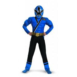 Fantasia Infantil Power Rangers Ranger Azul Samurai