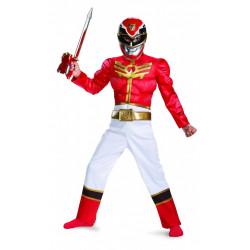 Fantasia Infantil Power Rangers Ranger Vermelho Megaforce Luxo